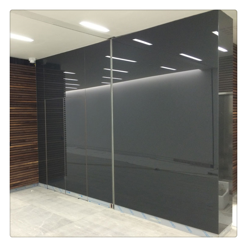 back painted toughened glass