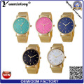 Montres Yxl-642 Mesh Band Geneva Ladies Made in China Cheap Price Colorful Watch Dial Design