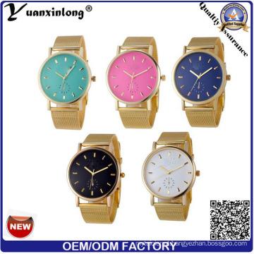 YXL-642 malha banda Genebra relógios feitos na China preço barato colorido Watch Dial Design