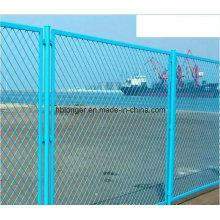 PVC enduit galvanisé barrière de treillis métallique expansé