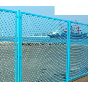 PVC Coated Galvanized Expanded Metal Wire Mesh Fence