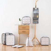8 conjunto de embalagem conjunto de valor de sacos de malha de organizador de viagem de cubos
