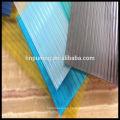 Resina de policarbonato material de construcción nuevo pared gemela de policarbonato de colores hoja para tejados claraboya toldo