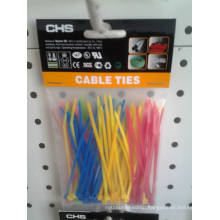 Yellow Blue Pink Assorted Nylon Cable Ties