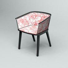 Desain Italia Solid Ash Secreto Fabric Armchair