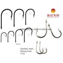Sharpended Point Silver Color Stainless Steel Fishing Hook 7732