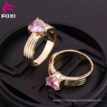 Anillos de compromiso al por mayor Diseño de anillo de dedo de oro
