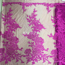 Vantage Flower Lace Embroidery Fabric