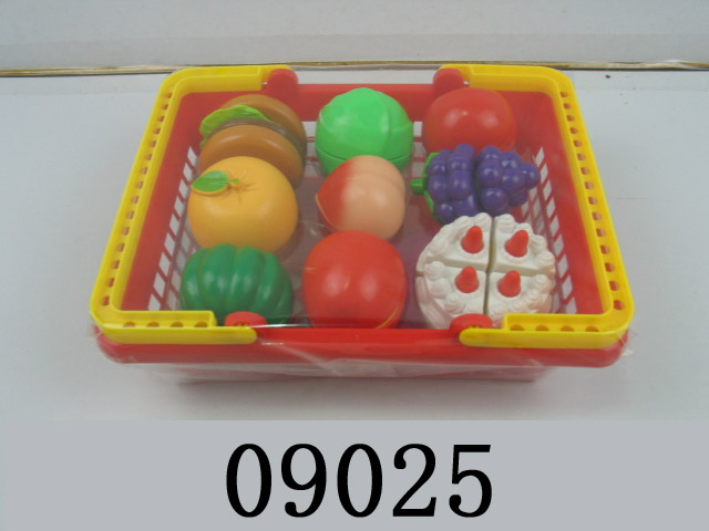plastic toy cutting food