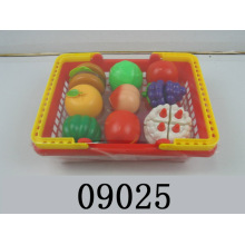 Pretend Play Cutting Food Toys with Basket