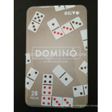 ivory domino set in iron box