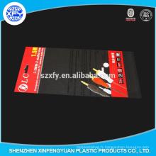 Sac d'emballage en plastique autocollant OPP transparent avec en-tête d'impression