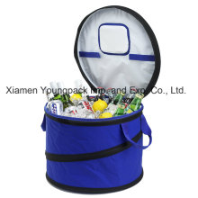 Fashion Promotional Custom Large Collapsible Round Party Cooler Bag