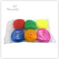 Hogar hogar cocina olla / plato limpieza pelota plástico malla estropajo
