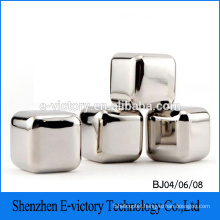 Customized Stainless Steel Whiskey Ice Cube Stone Beer Chiller Cube