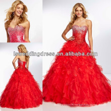 HE2129 Red hot all over beaded bodice fairytale ball gowns