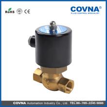 AC220V 24V US Series Válvula de control de alta temperatura de latón de 2/2 vías