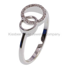 925 Sterling Silver Jewelry CZ Ring (KR3109)