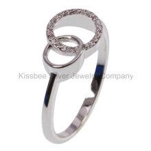 925 prata esterlina jóias anel cz (kr3109)