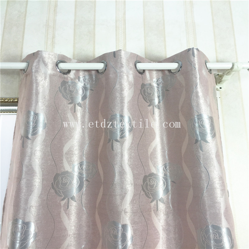 SILVER ROSE BLACKOUT CURTAIN