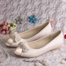 Flor nupcial Ballet Flats Peep Toe