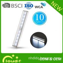 led motion sensor light aluminium material 10leds 3m adhesive magnet 1w