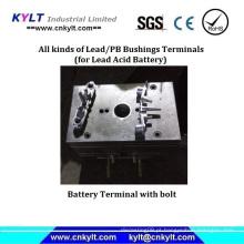 Molde de injeção de terminal de parafuso de bateria de ácido de chumbo