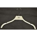 Venda quente Revestimento de revestimento branco cabide de plástico lindo gancho de vestidos