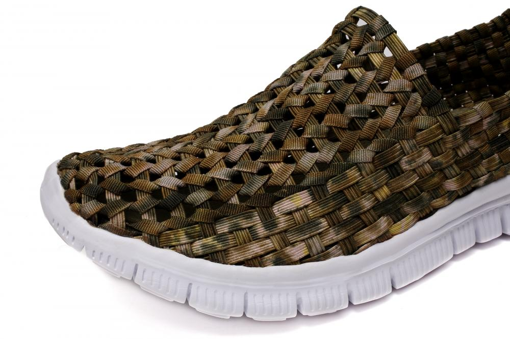 Camouflaged Upper Woven Hollow Shoes