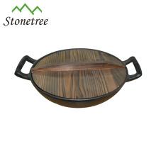 Wholesale Indian Industrial Pre-seasoned Mini Cast Iron Wok Dish