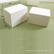 Caja de tarjeta plegable de papel Kraft blanco