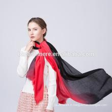 2017 femmes mode hiver usure rouge et noir rampe shader pattren laine écharpe
