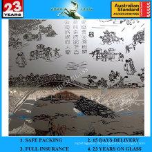 3-6mm Am-71 dekorative Säure geätzte bereifte Kunst Architekturspiegel