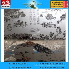 3-6mm Am-71 décoratif acide givré Art Architectural Miroir