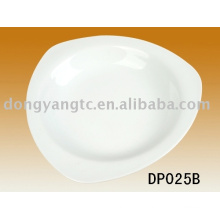 Factory outlets custom logo white ceramic soup plate