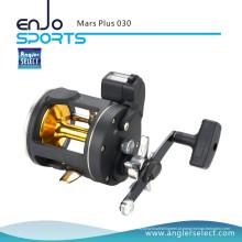 Angler Selecione Marte Plus Plastic Body 2 + 1 Rolamento Direito Handle Fishing Fishing Trolling Reel Fishing Tackle (Mars Plus 030)