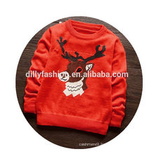 Fashion baby christmas sweater knitted cashmere children pullover