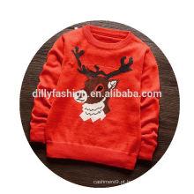 Moda bebê natal sweater tricô cachemira pulôver infantil