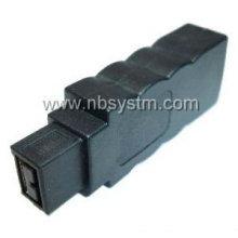 Novo design Firewire 1394 6P fêmea para 9P adaptador macho