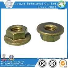 Brass Bronze Flange Hex Nut
