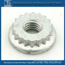 Hot Quality Dacromet Coating Serrated Lock Nut