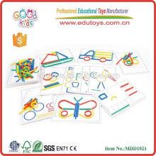 Niños educativos DIY juguetes Madera Color Craft Stick