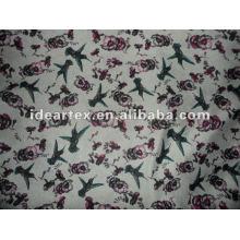 Tissu Satin polyester imprimé pour Lady robe faites personnaliser