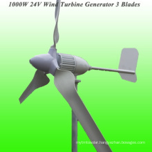 New Arrival 3 Blades Rated 1000W 24V Wind Generator with 3 Years Warranty & 15 Years Life Time