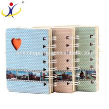Симпатичный дизайн спираль ноутбук Дневник карманный блокнот с катушки бумага 80gsm