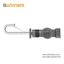 Abrazadera de tensión de cable de cable de caída de fibra de gancho abierto plano tipo F