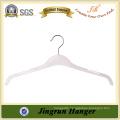 Transparent White Metal Hook Plastic Shirt Hanger