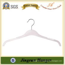 Crochet de chemise en plastique transparent pour pendentif en métal blanc transparent