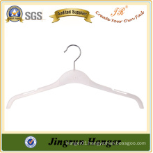 Transparent White Metal Hook Plastic Shirt Hanger