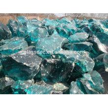 Escória, vidro, rocha, gabião